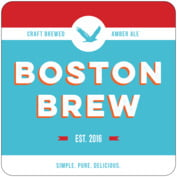 Boston Brew Square Coaster In Sky