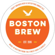 Boston Brew Round Coaster In Carrot