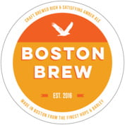 Boston Brew Round Coaster In Tangerine