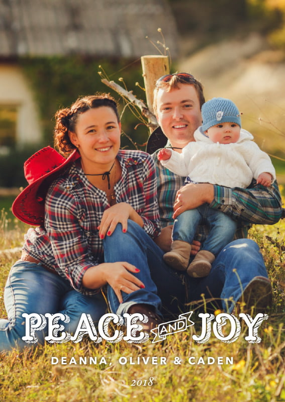 holiday cards - amber - country joy (set of 10)