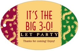 Party wide oval hang tags