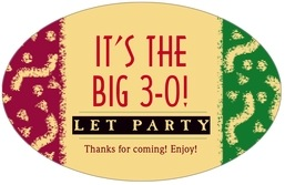 Party large oval labels