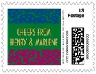 Party small postage stamps