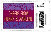 Party large postage stamps