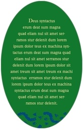 Party oval text labels