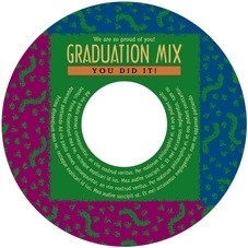 Party graduation CD/DVD labels