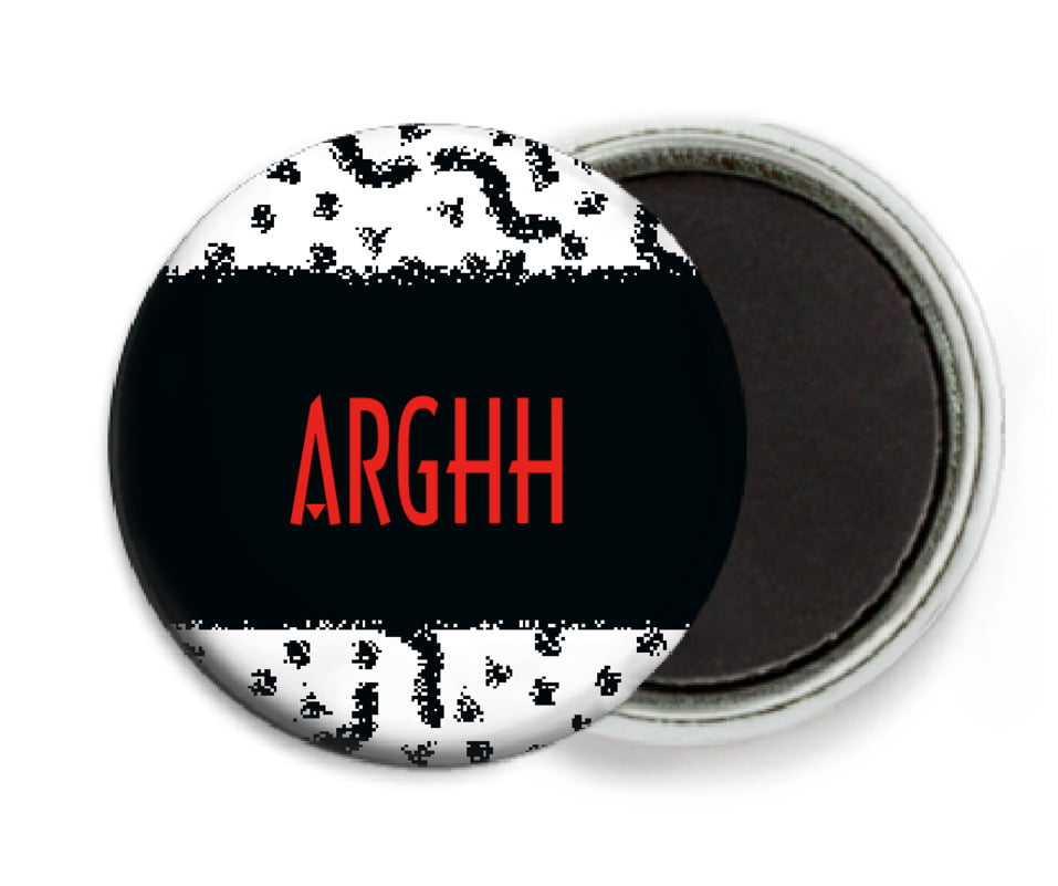 custom button magnets - black - party (set of 6)