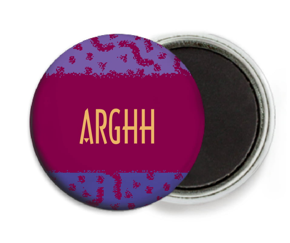 custom button magnets - burgundy - party (set of 6)