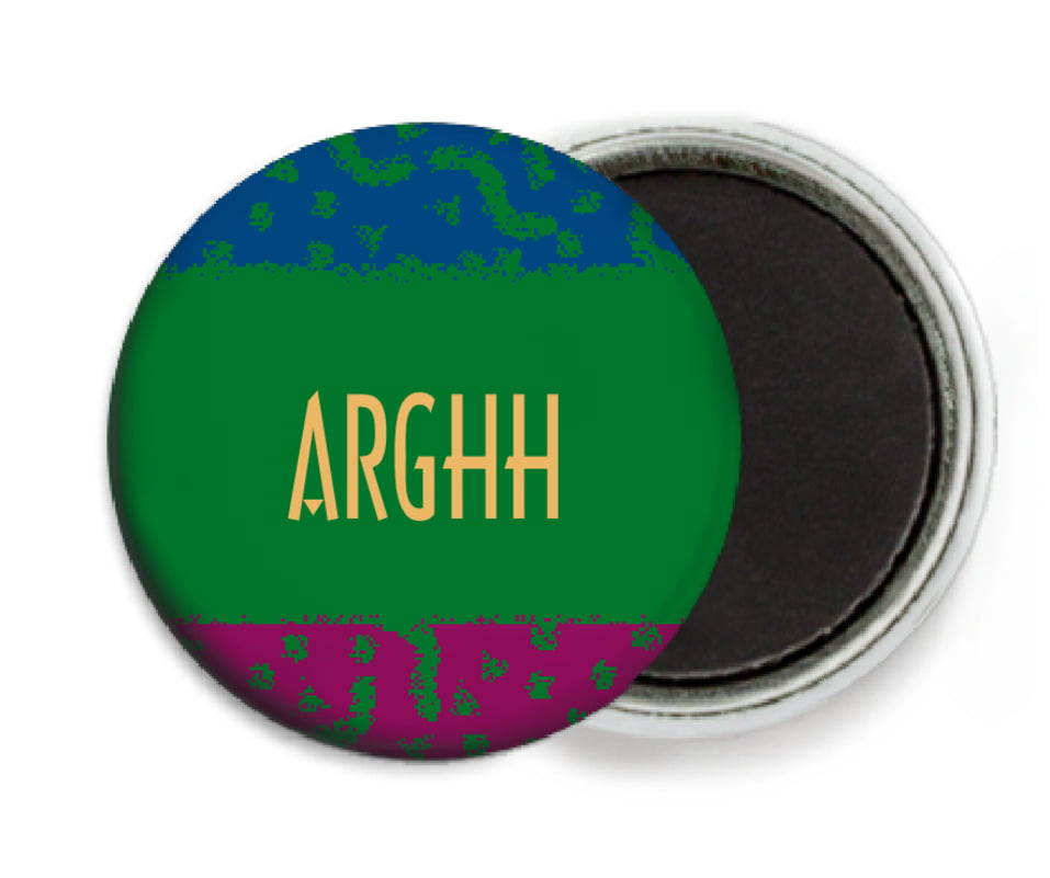 custom button magnets - green - party (set of 6)