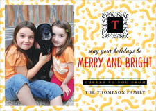 holiday cards - black - party (set of 10)