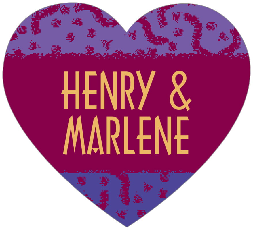 small heart food/craft labels - burgundy - party (set of 20)
