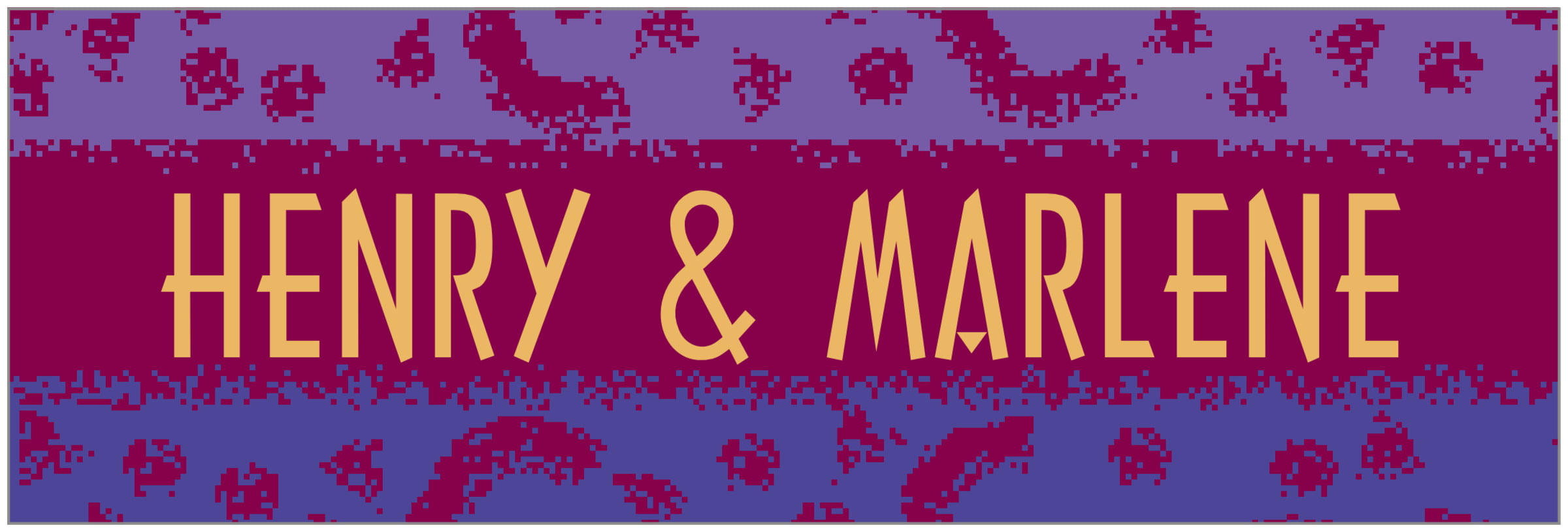 wide food/craft labels - burgundy - party (set of 14)
