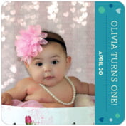 Polka Dots baby birthday coasters