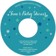 Polka Dots baby shower CD/DVD labels