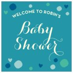 Polka Dots baby shower labels