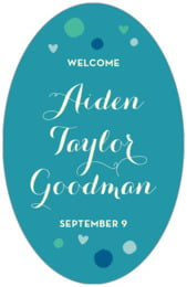 Polka Dots tall oval labels