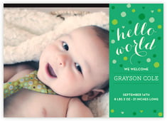 Polka Dots baby announcements