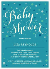 Polka Dots baby shower invitations