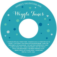 Polka Dots custom CD/DVD labels