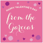 Polka Dots valentine's day labels