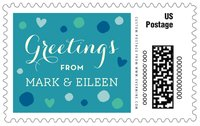 Polka Dots large postage stamps
