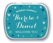 Polka Dots Mint Tin In Blue