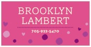 Polka Dots Rectangle Label In Bright Pink