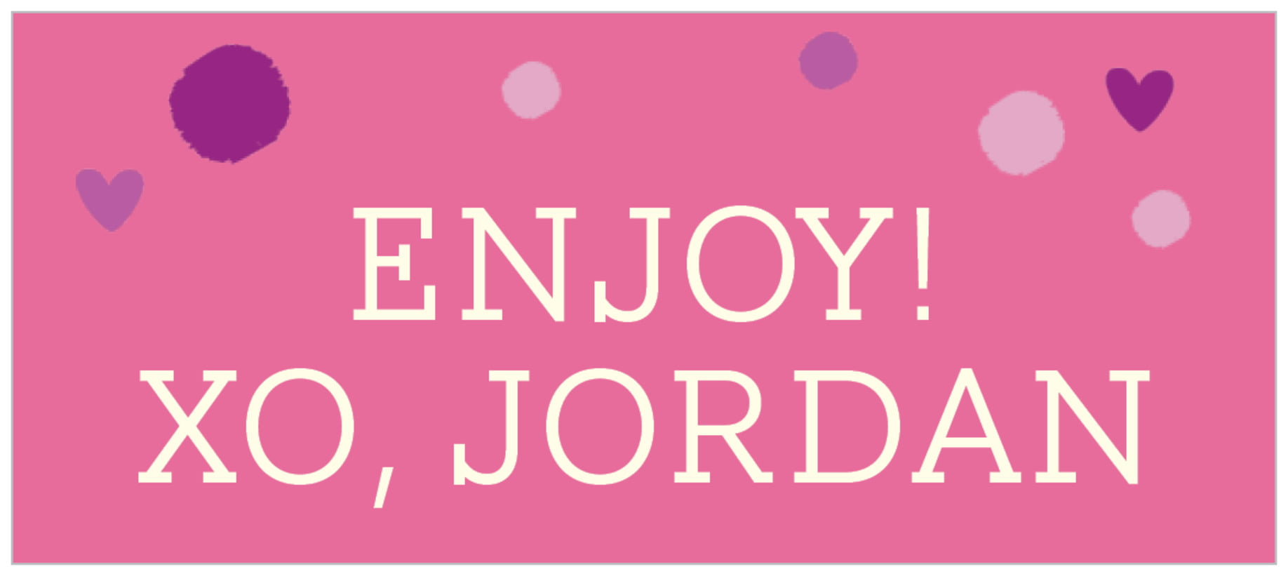 small rectangle food/craft labels - bright pink - polka dots (set of 24)