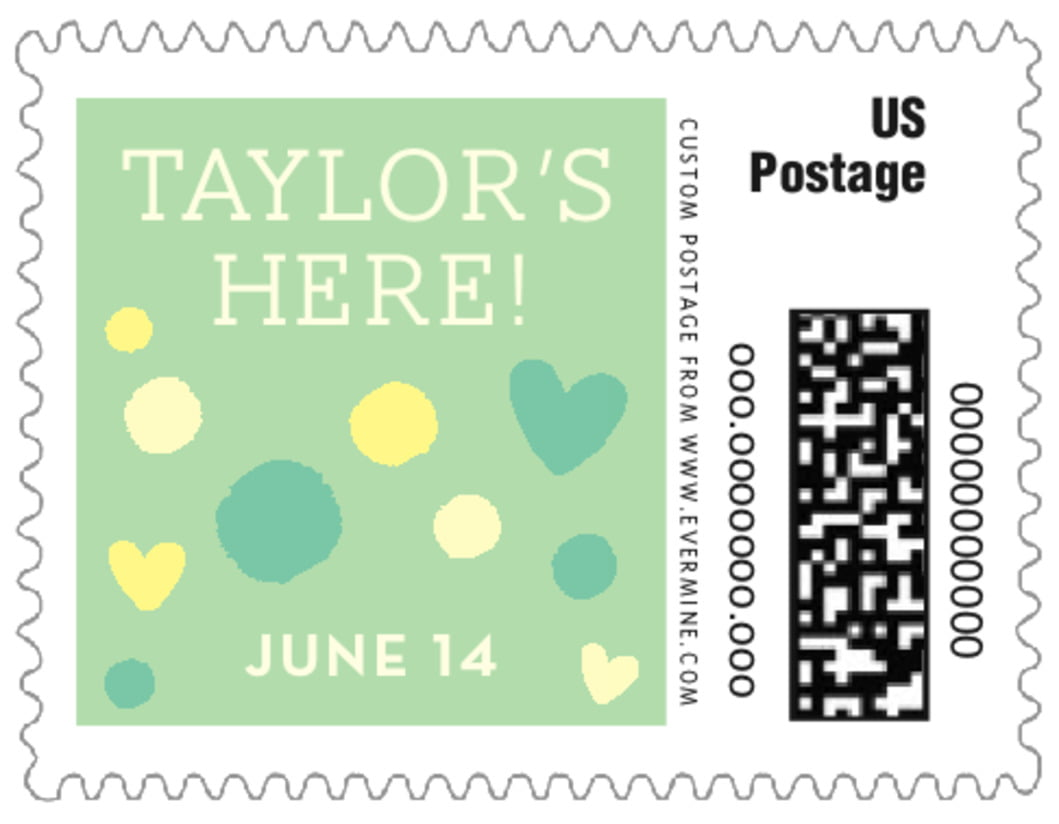 small custom postage stamps - mint - polka dots (set of 20)