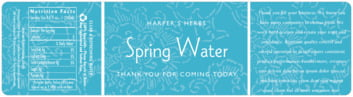 Persimmon Flower bottled water labels