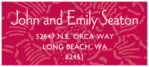 Persimmon Flower designer address labels
