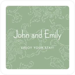 Persimmon Flower square coasters