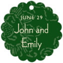 Persimmon Flower scallop hang tags