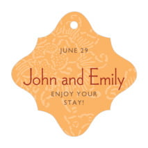 Persimmon Flower fancy diamond hang tags