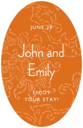 Persimmon Flower tall oval labels