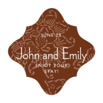 Persimmon Flower fancy diamond labels