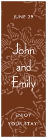 Persimmon Flower tall labels