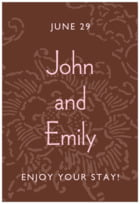 Persimmon Flower tall rectangle labels