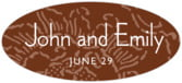Persimmon Flower oval labels