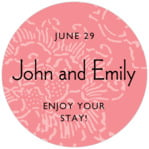 Persimmon Flower circle labels