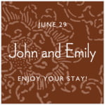 Persimmon Flower square labels