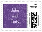 Persimmon Flower small postage stamps