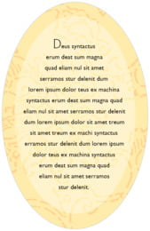 Persimmon Flower oval text labels