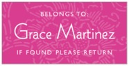 Persimmon Flower rectangle labels