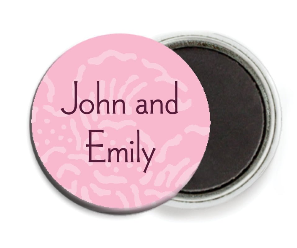 custom button magnets - pale pink - persimmon flower (set of 6)
