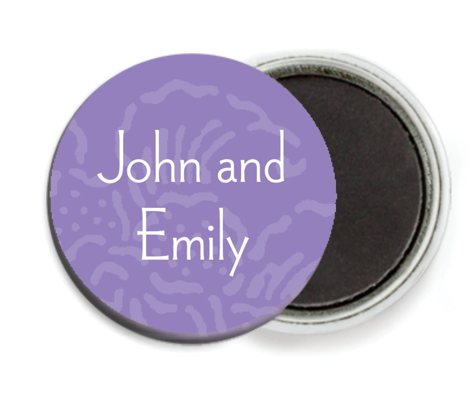 custom button magnets - lilac - persimmon flower (set of 6)
