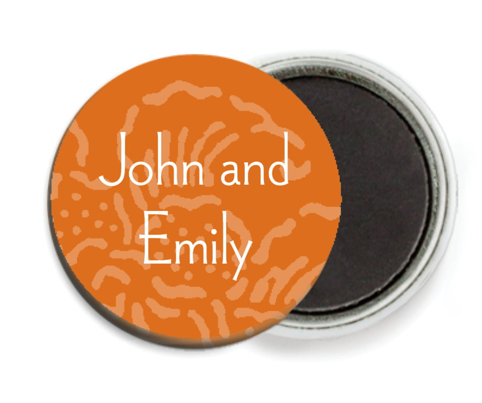 custom button magnets - spice - persimmon flower (set of 6)