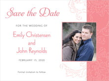 custom save-the-date cards - grapefruit - persimmon flower (set of 10)