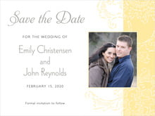 custom save-the-date cards - sunflower - persimmon flower (set of 10)