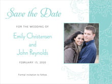 custom save-the-date cards - aruba - persimmon flower (set of 10)